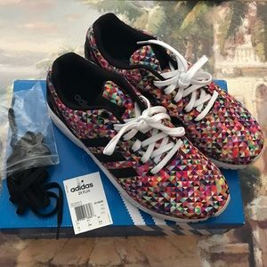 oferować rabaty oficjalny sklep wyglądają dobrze wyprzedaż buty Adidas ZX Flux Multi-Color Prism men's size 10